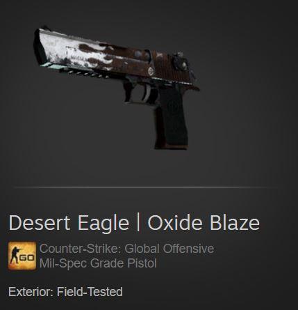 Desert Eagle   Oxide Blaze