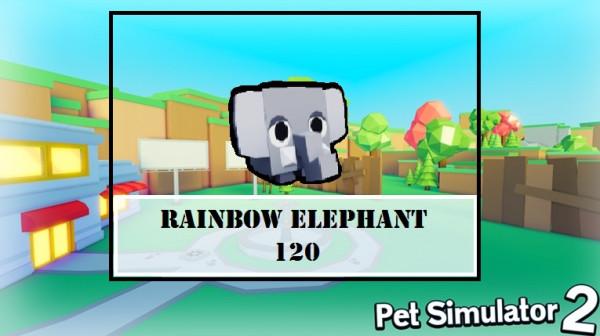 [Rainbow] Elephant | Pet Simulator 2