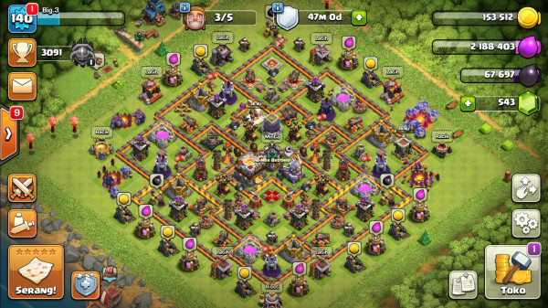COC TH 11 AWAL, TEMBOK TH 11 , Log SC Gmail