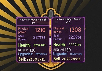 Heavenly Mage Armor +30