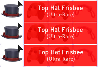 1 Top Hat Frisbee (Adopt Me)