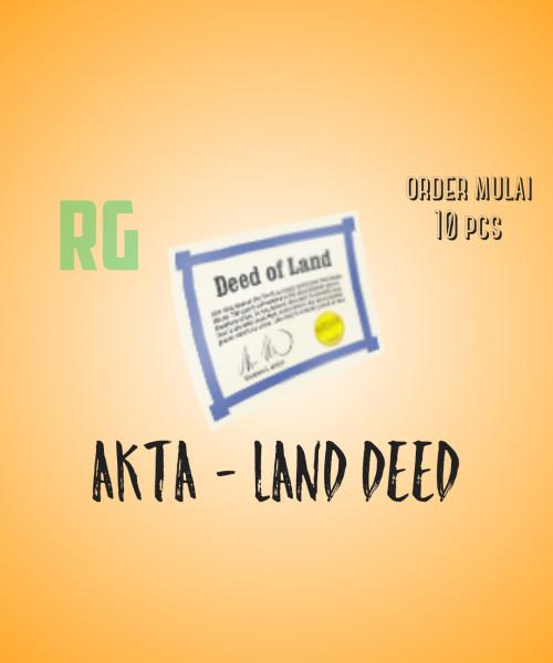 Akta Tanah - Land Deed
