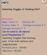 Swimming Goggles of Humbug XG+7, SEG XG+7