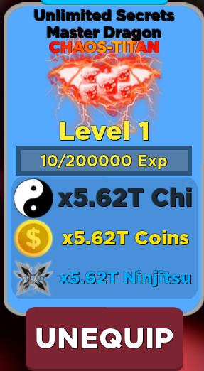 Chaos Titan: Unlimited Secrets Master Dragon