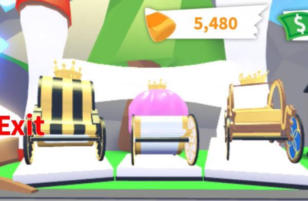 Set Royal Cariage Legendary Vehicle Adoptme