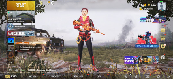 AKUN PUBG SKIN M416 ORANGE (24)