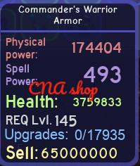 Commander's Warrior Armor (Dungeon Quest)