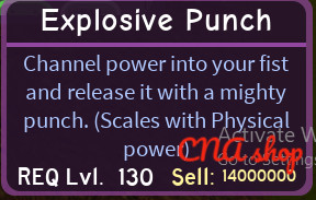 Explosive Punch (Dungeon Quest level 130)