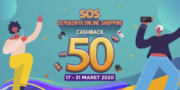 Promo OVO SOS Maret 2020: Cashback 50% Semua Game!