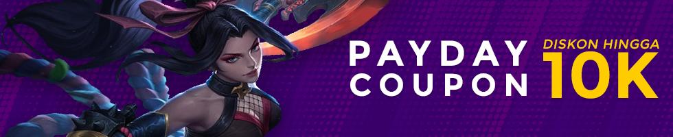 Maret Payday Coupon: Diskon Rp10K Free Fire dan Game Lainnya!