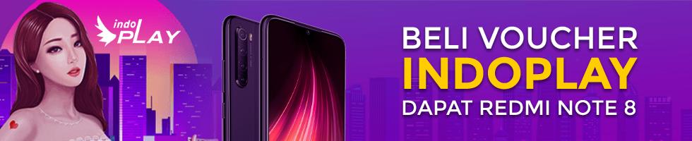 Beli Voucher IndoPlay dan Menangkan Xiaomi Redmi Note 8!