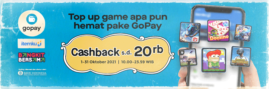 Knock, Knock! CASHBACK 50% Belanja Pakai GoPay di itemku!