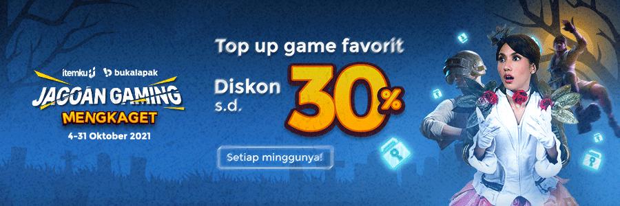 TRICKS or TREATS?, DISKON 30% Jagoan Gaming Mengkaget!