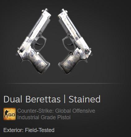 Dual Berettas | Stained (Industrial Grade Pistol)