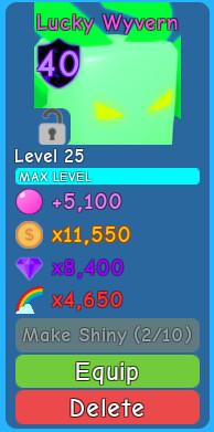 1 Pet Lucky Wyvern (Bubble Gum Simulator)