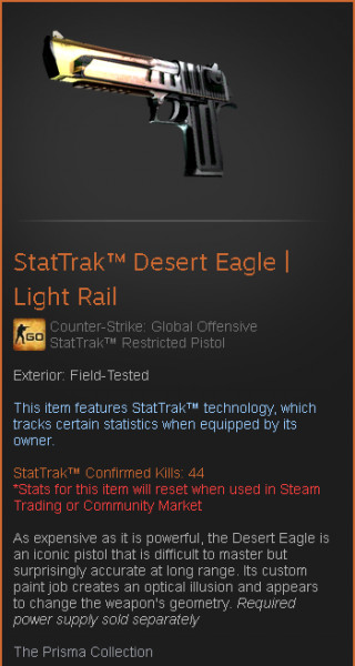 StatTrak™ Desert Eagle | Light Rail