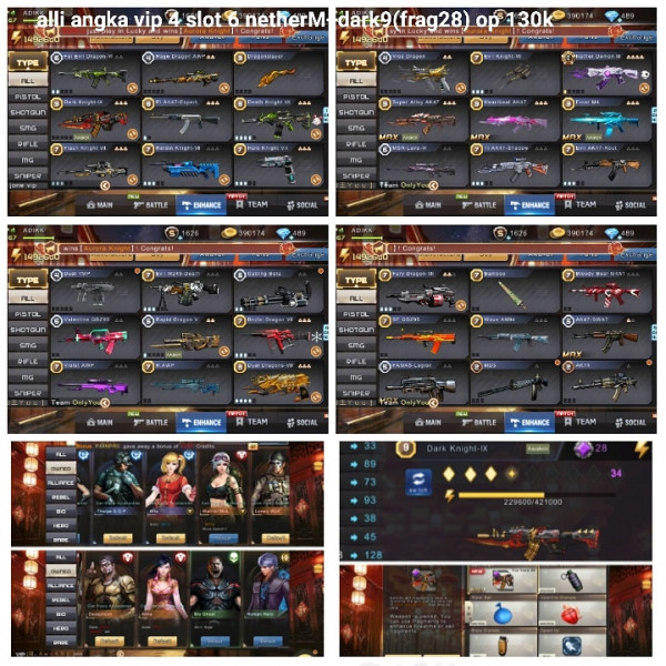 Akun game crisis action netherM+dark9