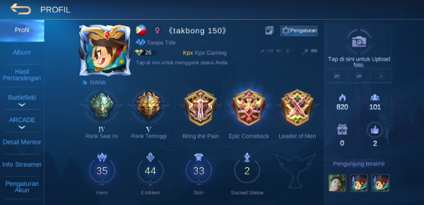 Akun Mobile Legends Murah #Starlight #GG #Smurf