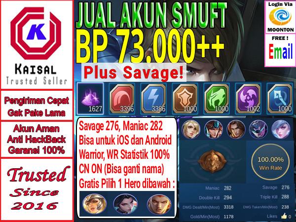 Akun Smurft BP Banyak Sugoi #Hero#BelumEpic#Sultan