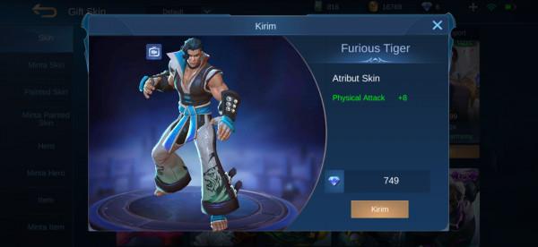 Furious Tiger (Special Skin Chou)
