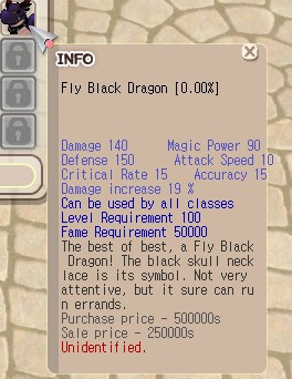 Fly Black Dragon (FBD) +0 Unapp