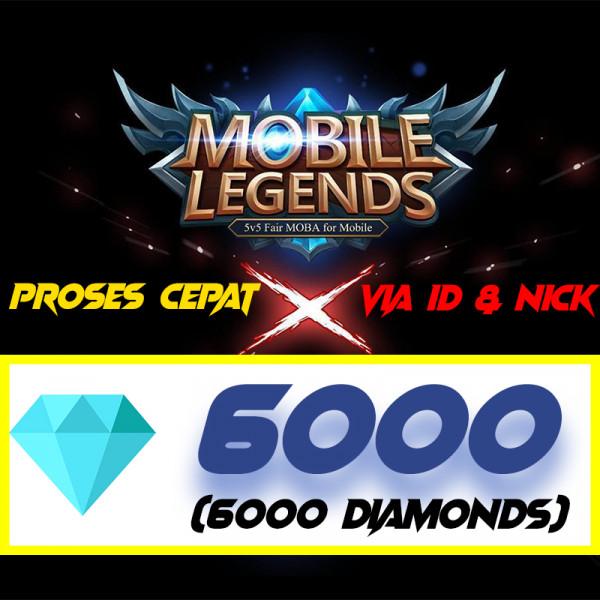 6000 DIAMONDS MOBILE LEGENDS MURAH CEPAT AMANAH