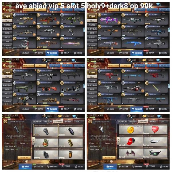Akun game crisis action holy9+dark8