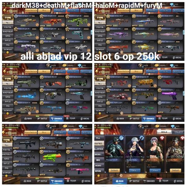 Akun game crisis action darkM38+5M
