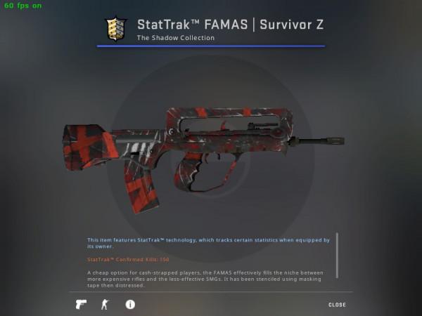 StatTrak™ FAMAS   Survivor Z (StatTrak™ Mil-Spec Rifle)