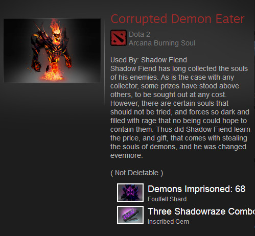 Corrupted Demon Eater (Arcana Shadow Fiend)