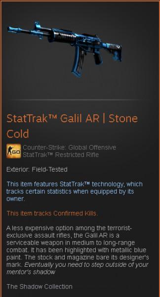 StatTrak™ Galil AR | Stone Cold (StatTrak™ Restricted Rifle)