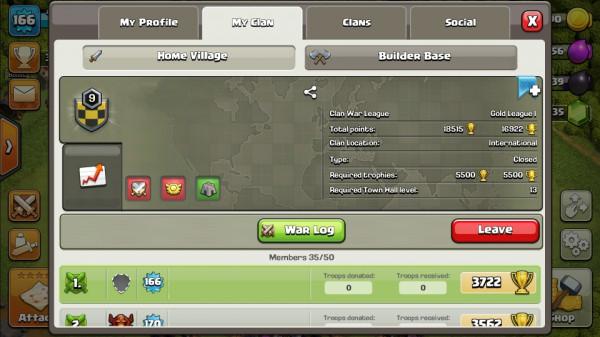 Clan Level 9 + Nama Clan Unik + Log War WoooooW