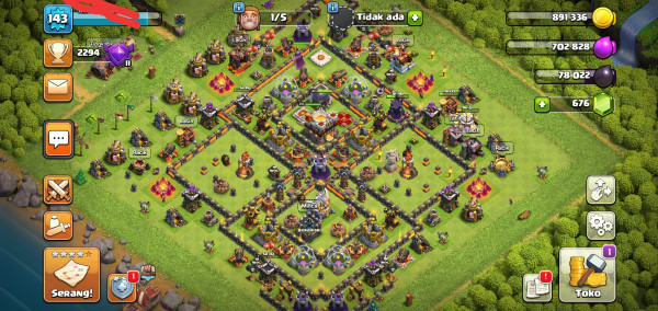 Clash of Clans TH 11 GG Medali banyak Murmer