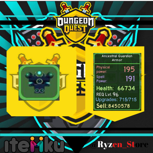100%BONUS Ancestral Guardian ArmorMax-Dugeon Quest