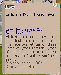 einhorn mythril armor (manual)