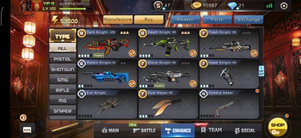 Jual Akun Crisis Action Mantap Senjata Knight Banyak Dari Irfan Game Store Itemku