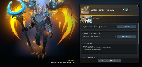 Golden Flight of Epiphany (Immo TI9 Skywrath Mage)