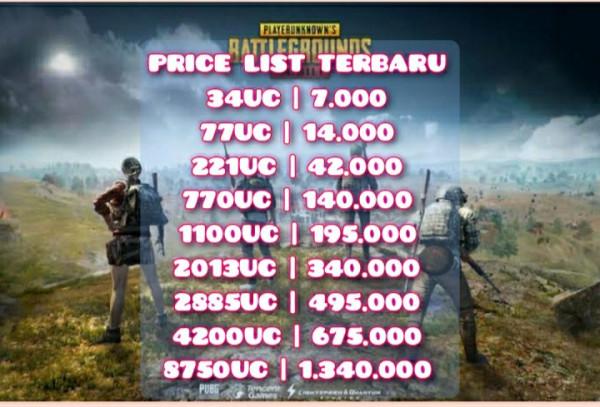 8750 uc murah harga promo