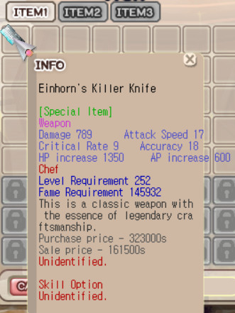 Einhorn Killer Knife normal+0 (Unapp)