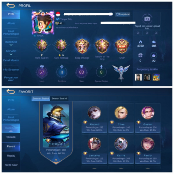 67 HERO || 83 SKIN || LIMIT FANY , HARIT , ALDOUS