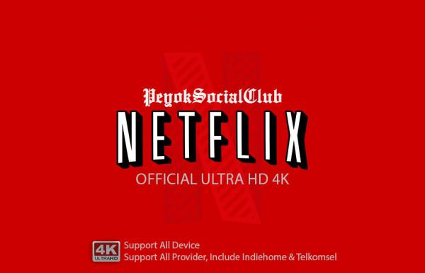 RESMI Netflix Ultra HD 4K Private 4 Device Garansi