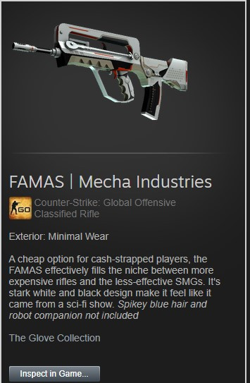 FAMAS | Mecha Industries (Minimal Wear)