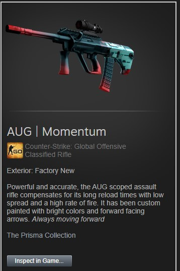 AUG | Momentum (Factory New)