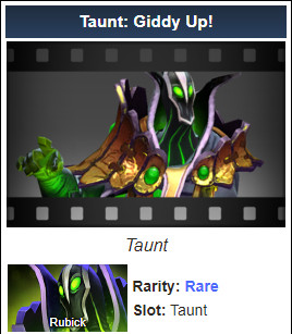 Taunt: Giddy Up! (Rubick Taunt)