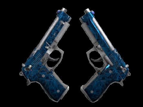 Dual Berettas | Cobalt Quartz (Restricted Pistol)