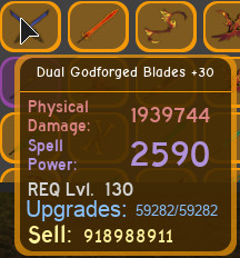 Dual godforged T30 max dungeon