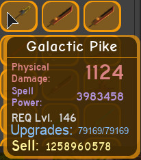 Galactic Pike max dungeon Q