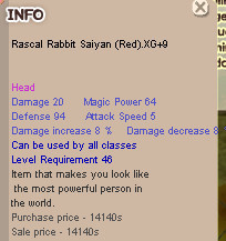 Rascal Rabbit Saiyan ( Red ) XG+9