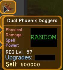 Dual Phoenix Daggers Max Dungeon Quest