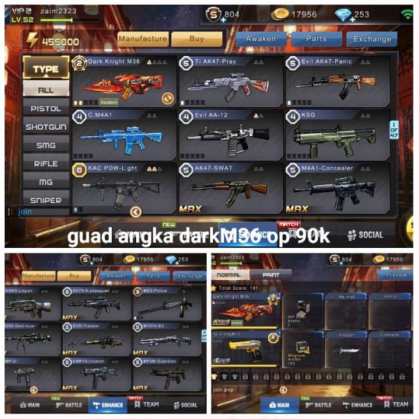 Akun game crisis action darkM36
